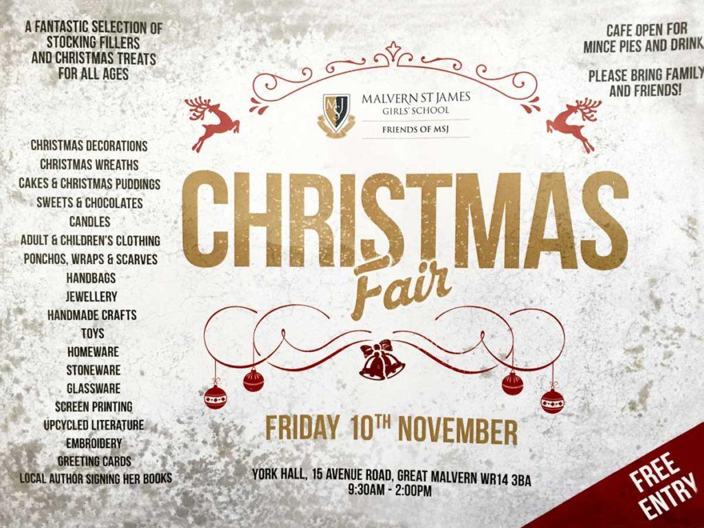 Christmas Fair St James Malvern School